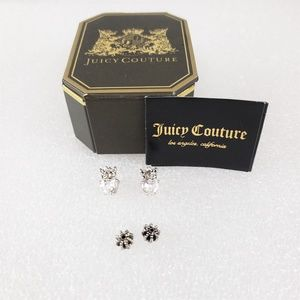 Earrings Juicy Couture CZ Heart Crown Studs